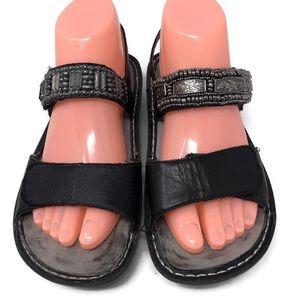 Alegria Black Silver bead sandals 37/7 MISMATCH